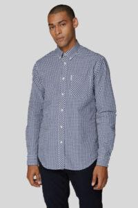 Camisa Gingham Cuadros Clásica – Ben Sherman – Navy 1