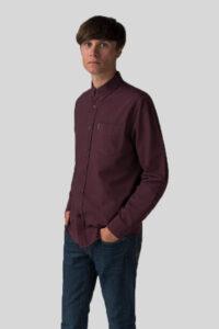 Camisa Liso – Ben Sherman – Wine 1