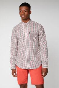 Camisa manga larga_SIGNATURE HOUSE CHECK_Ben Sherman_0059144_Peach_