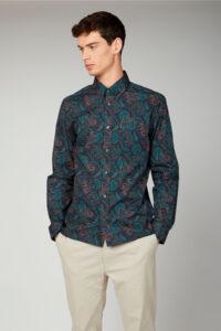 Camisa_LARGE PAISLEY SHIRT-Ben Sherman_0061434_Navy_