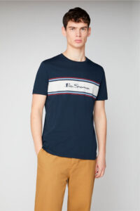 Camiseta_CHEST STRIPE LOGO PRINT_BenSherman_0059066_Navy_a