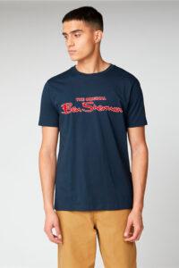Camiseta_Signature Logo Print Tee_Ben sherman_0059934_Navy_a