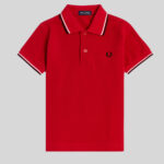 Fred Perry - Kids Twin Tipped Shirt 842 Deep Red
