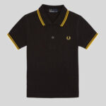 Fred Perry - My First Fred Perry Shirt SY1225 506 Black-Yellow-Yellow