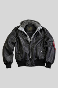 MA-1 D-Tec FL fake leather – Alpha Industries Black-Grey1