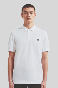 Polo Fred Perry M6000 Sin Rayas – White