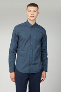 Retro Spot Print Shirt – Ben Sherman – Navy 1